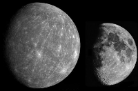 Aspect of the Moon and Mercury