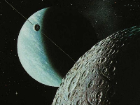 Aspect of the Moon and Uranus