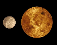 Aspect of the Moon and Venus