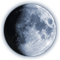Moon phase and lunar calendar at october 2020 year