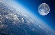 Photos of the moon from space