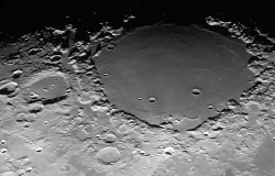 What dark spots on the moon?